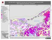 Mapa ilustrativo de Uso del suelo y vegetación derivado del Inventario Forestal Nacional 2000 de la Laguna de Términos. Campeche