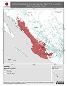 Mapa ilustrativo de Tabloncillo en México. Distribución potencial de la raza de maíz. La proyección citada, es exclusiva para el diseño de esta imagen.