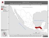 Mapa ilustrativo de Tangara larvata (tángara capucha-dorada) residencia permanente. Distribución potencial.