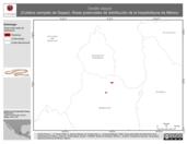 Mapa ilustrativo de Tantilla deppei (Culebra ciempiés de Deppe). Área de distribución potencial. La proyección citada, es exclusiva para el diseño de esta imagen.