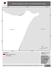 Mapa ilustrativo de Terrenos ganados al mar en el municipio Benito Juárez