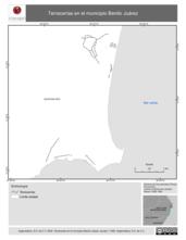 Mapa ilustrativo de Terracerías en el municipio Benito Juárez