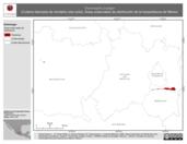 Mapa ilustrativo de Thamnophis scaliger (Culebra listonada de montaña cola corta). Área de distribución potencial. La proyección citada, es exclusiva para el diseño de esta imagen.