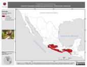 Mapa ilustrativo de Thryothorus pleurostictus (chivirín barrado) residencia permanente. Distribución potencial.