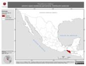 Mapa ilustrativo de Thryothorus rufalbus (chivirín rojizo) residencia permanente. Distribución potencial.