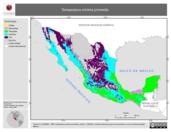 Mapa ilustrativo de Temperatura mínima promedio