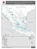 Mapa ilustrativo de Tuxpeño Norteño en México. Distribución de la raza de maíz. La proyección citada, es exclusiva para el diseño de esta imagen.