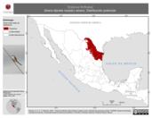 Mapa ilustrativo de Tyrannus forficatus (tirano-tijereta rosado) verano. Distribución potencial.