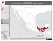 Mapa ilustrativo de Tyrannus savana (tirano-tijereta gris) residencia permanente. Distribución potencial.