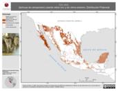 Mapa ilustrativo de Tyto alba (lechuza de campanario) usando sitios con y sin clima extremo. Distribución Potencial