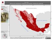 Mapa ilustrativo de Tyto alba (lechuza de campanario) residencia permanente. Distribución potencial.