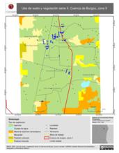 Mapa ilustrativo de Uso de suelo y vegetación serie II. Cuenca de Burgos, zona II
