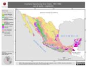 Mapa ilustrativo de Inventario Nacional de Gran Vision, 1991-1992: uso de suelo y vegetacion