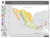 Mapa ilustrativo de Uso del suelo y vegetación, escala 1:250000, serie II (continuo nacional). La proyección citada, es exclusiva para el diseño de esta imagen.
