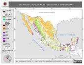 Mapa ilustrativo de Uso del suelo y vegetación, escala 1:250000, serie IV (continuo nacional). La proyección citada, es exclusiva para el diseño de esta imagen.