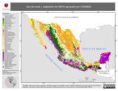 Mapa ilustrativo de Uso de suelo y vegetación de INEGI agrupado por CONABIO