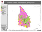 Mapa ilustrativo de Uso de suelo y vegetación. Reserva de la Biosfera Sierra de Tamaulipas