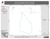 Mapa ilustrativo de Vias de comunicación terrestre (1:250 000). Reserva de la Biosfera Sierra de Tamaulipas.
