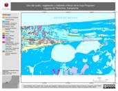 Mapa ilustrativo de Uso del suelo, vegetación y hábitats críticos de la hoja Progreso. Laguna de Términos, Campeche