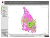 Mapa ilustrativo de Tipos de vegetación. Reserva de la Biosfera Sierra de Tamaulipas