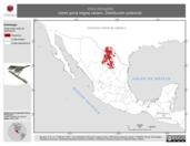 Mapa ilustrativo de Vireo atricapilla (vireo gorra negra) verano. Distribución potencial.