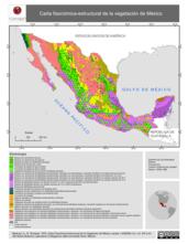 Mapa ilustrativo de Carta Fisonómica-Estructural de la Vegetación de México