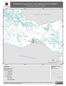 Mapa ilustrativo de Zapalote Chico en México. Distribución de la raza de maíz. La proyección citada, es exclusiva para el diseño de esta imagen.