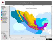 Mapa ilustrativo de Zonas ecológicas de México