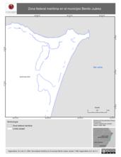 Mapa ilustrativo de Zona federal maritima en el municipio Benito Juárez