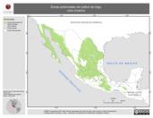 Mapa ilustrativo de Zonas potenciales de cultivo de trigo, ciclo Invierno