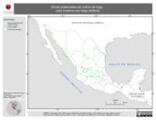 Mapa ilustrativo de Zonas potenciales de cultivo de trigo, ciclo Invierno con riego artificial