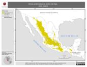 Mapa ilustrativo de Zonas potenciales de cultivo de trigo, ciclo Verano