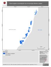 Mapa ilustrativo de Zona sujeta a inundación en el municipio Benito Juárez